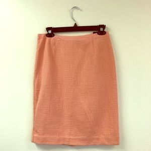 NWT Banana Republic Peach Tweed Skirt Size 2